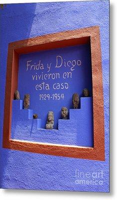 Frida Kahlo Museum Mexico City Metal Print