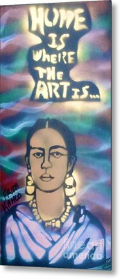 Frida Kahlo Metal Print by Tony B Conscious