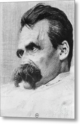 Friedrich Wilhelm Nietzsche, German Metal Print by Photo Researchers