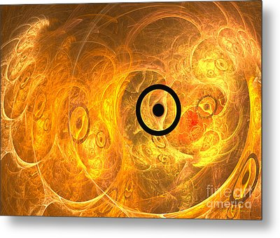 From Phase To Face Metal Print by Sipo Liimatainen