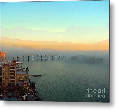 From The Balcony Metal Print by Merton Allen