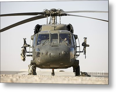 Front View Of A Uh-60l Black Hawk Metal Print by Terry Moore