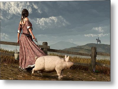 Frontier Widow Metal Print by Daniel Eskridge