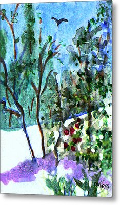 Metal Print featuring the painting Frosty Morning by Paula Ayers