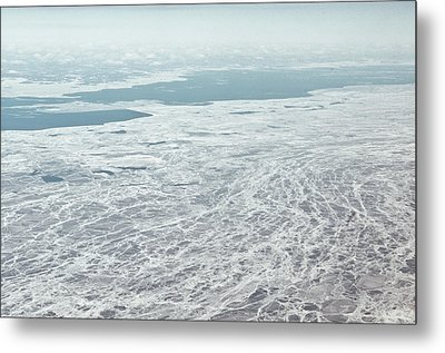 Frozen And Ice Covered Gulf Of Finland Metal Print by Photography by Oleg Pulemjotov (Photogruff)