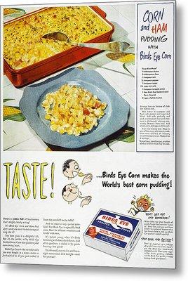 Frozen Food Ad, 1947 Metal Print