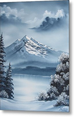 Frozen Mountain Metal Print by Kevin Hill