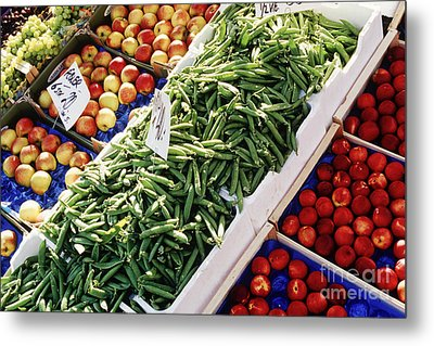 Fruit And Vegetable Stand Metal Print by Jeremy Woodhouse