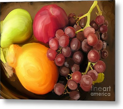 Fruit Aplenty Metal Print by Anne Ferguson