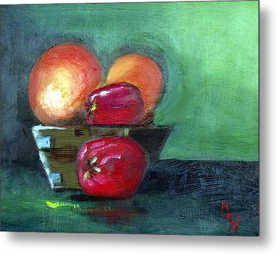 Fruit In A Bowl Metal Print