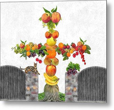 Fruit Tee Metal Print