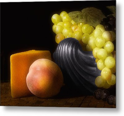 Fruit With Cheese Metal Print