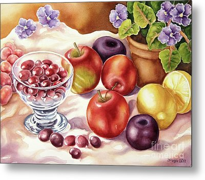 Fruits And Berries Metal Print by Inese Poga