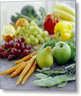 Fruits And Vegetables Metal Print by David Munns