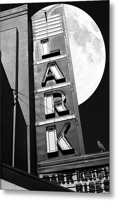 Full Moon Over The Lark - Larkspur California - 5d18489 - Black And White Metal Print by Wingsdomain Art and Photography