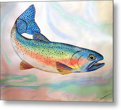 Full On Trout Metal Print by Alethea McKee