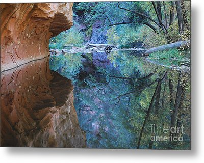 Fully Reflected Metal Print by Heather Kirk