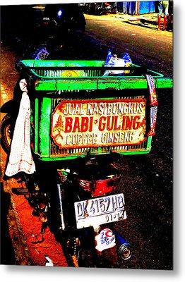 Funky Balinese Motorbike Metal Print by Funkpix Photo Hunter