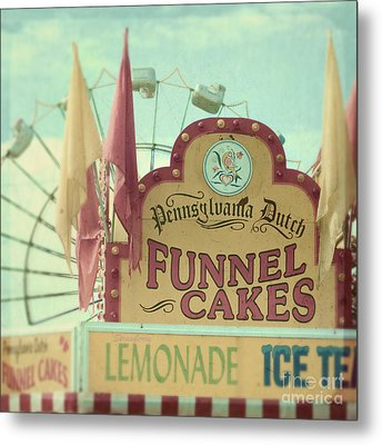 Funnel Cakes Metal Print by Sylvia Cook