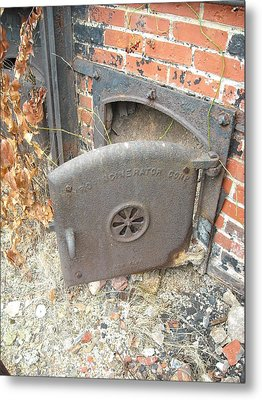 Metal Print featuring the photograph Furnace Door by Christophe Ennis