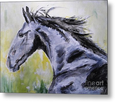 Metal Print featuring the painting Fury by Judy Kay