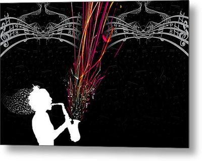 Fused Series - The Color Of Music Metal Print