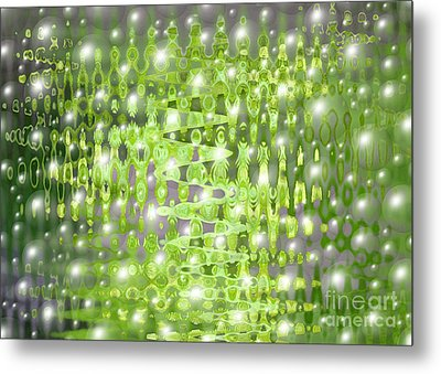 Future Forest Abstract Metal Print by Carol Groenen