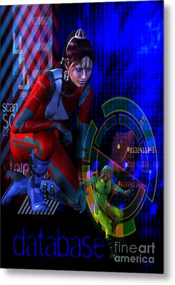 Metal Print featuring the digital art Future Tribal by Shadowlea Is