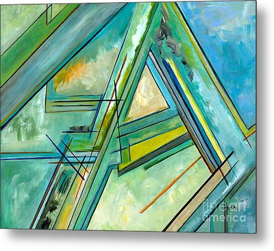Interior Designers Abstract Lines Art Decorative G88gle Map Print Metal Print by Marie Christine Belkadi