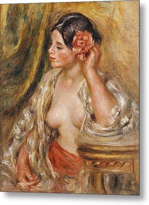 Gabrielle A Sa Coiffure Metal Print by Pierre Auguste Renoir