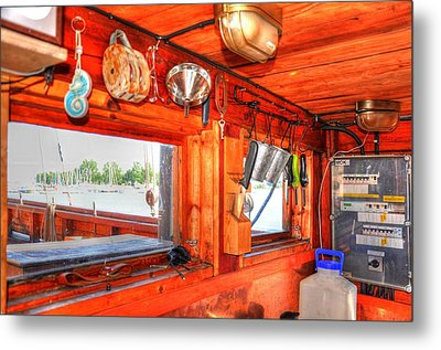 Galley Metal Print by Barry R Jones Jr