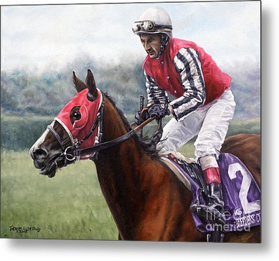 Galloping Back Metal Print by Thomas Allen Pauly