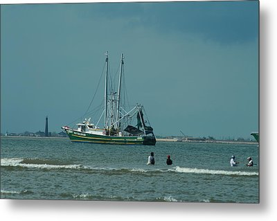 Galveston Fishing Metal Print
