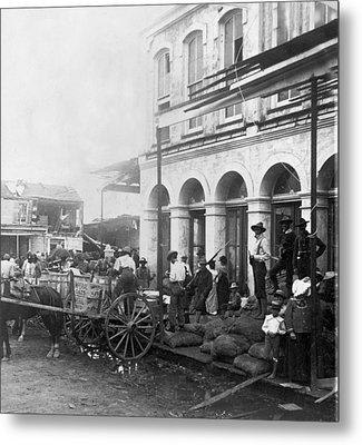 Galveston Flood - September - 1900 Metal Print by International  Images