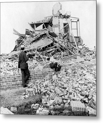 Galveston Flood Damage - September - 1900 Metal Print by International  Images