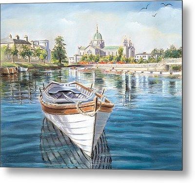 Galway Cathedral View  Metal Print by Vanda Luddy