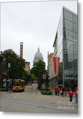 Game Day In Madison Metal Print by David Bearden
