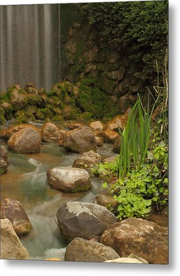 Metal Print featuring the photograph Garden Falls by Coby Cooper
