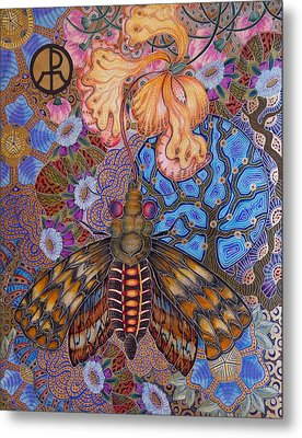 Garden Of Eden - Moth Metal Print