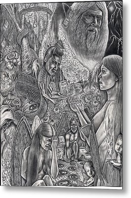 Garden Of Eden Metal Print by Vincnt Clark