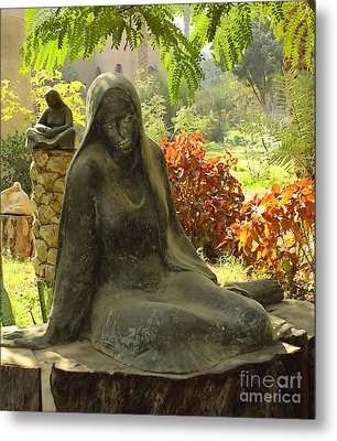 Garden Of Statues Egypt Metal Print by Mary Machare