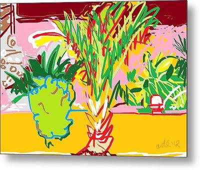Garden Palm Metal Print