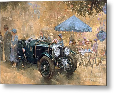 Garden Party With The Bentley Metal Print by Peter Miller
