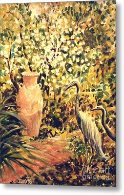 Metal Print featuring the painting Garden Sentinels by Dee Davis