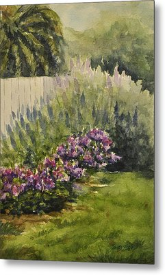 Metal Print featuring the painting Garden Splendor by Sandy Fisher