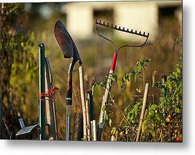 Gardening Tools Metal Print by John Greim