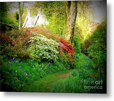 Gardens Of The Old Rectory Metal Print by Lainie Wrightson