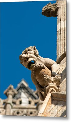 Metal Print featuring the photograph Gargoyle by Andrew  Michael