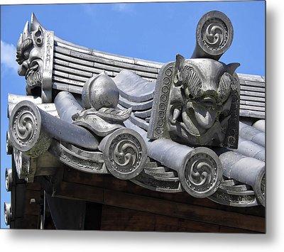 Gargoyles Of Horyu-ji Temple - Nara Japan Metal Print by Daniel Hagerman
