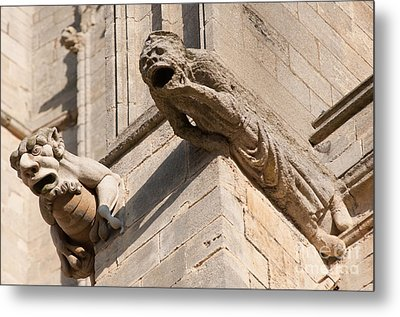 Metal Print featuring the photograph Gargoyles On Ely Cathedral by Andrew  Michael